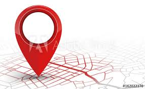 Red Checking Gps Navigator Pin Checking Red Color On White Background