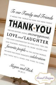 best 25 wedding reception cards ideas on pinterest table Wedding Thank You Cards No Pictures digital file personalized wedding reception thank you card wedding thank you sign 8x10 printable print ready pdf wedding thank you cards photo