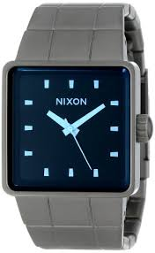 men watches nixon best watchess 2017 nixon a0131427 quatro gunmetal blue crystal dial steel
