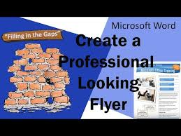 Fish Fry Flyer Microsoft Office Create A Professional Looking Flyer In Microsoft Word Youtube