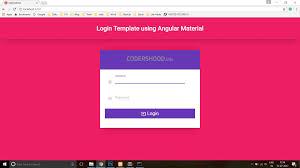 Login Page Templates Login Template Using Angular Material Codershood