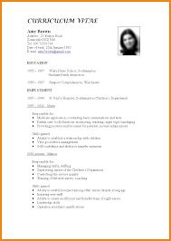 Proforma Of Resume Art Resume Examples