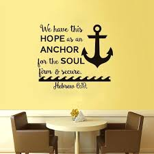 free nautical anchor wall decals we have this hope es art stickers home decor for