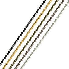 <b>5m lot</b> 1.2 1.5 2 mm <b>Metal</b> Ball Bead <b>Chains</b> Bulk Gold Black Silver ...