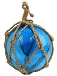 8 blue glass float in net 21 95