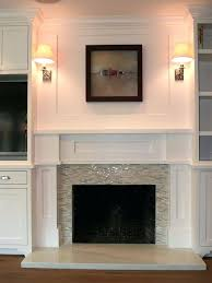 glass tile fireplace designs surround best ideas on