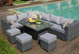 garden set. Exellent Garden Image Is Loading 9SEAT1diningTABLERattanWickerGarden In Garden Set M