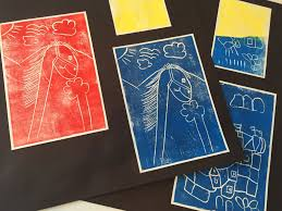 learning about colour block print introduction to art