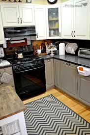 kitchen contemporary kitchen rug to make your kitchen look awesome attractive black and white