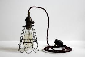Scrapping Light Fixtures Edison Inspection Cage Lamp Antique Brass With By