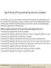 Housekeeper Resume housekeeping resume sample Tolgjcmanagementco 85