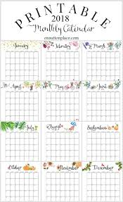monthly planner free download free 2018 calendar printable for download the suburban mom