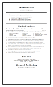 Sample Lpn Resume With Nursing Home Experience Sample LPN Resume One Page Sample Nursing Resumes 1