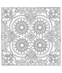Free Coloring Page Coloring Difficult Symmetry Tournesols Adult