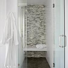 mosaic glass tile shower surround