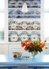 Glamorous blue willow dishes in Kitchen Traditional with Swedish Kitchen  next to Dish Drying Rack alongside China Display ...