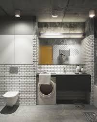 General: White Tile Bathroom - Creative Apartment Design