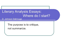 examples of literary analysis essays examples of literary  literary analysis essay example