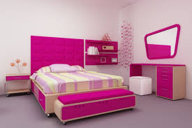 modern bedroom design for teenage girl. Hot Pink Headboard Full Size For Modern Teenage Girl Bedroom Design With Shelving And Creative Interior Decorations E