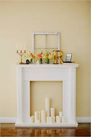 diy fireplace mantel could be like a decoration to take out