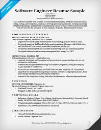 Software Engineer Resume Sample Writing Tips Companion Example Of To