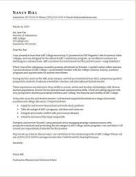 Admissions Counselor Cover Letter Sample Monster Com For University