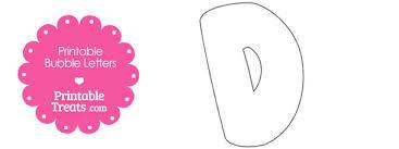 free printable bubble letter d template 610x229