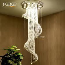 modern chandelier foyer. Ukuran Kristal Chandelier Modern Besar Spiral Lampu Tangga Panjang Pengkilap Pencahayaan Fixture Untuk Foyer D