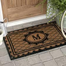 Accessories: Monogram Doormat Inspiring Three Posts Aspendale Creel ...