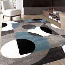 grey and modern blue area rug