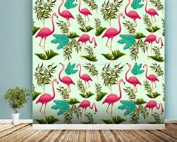 Flamingo Pattern Best Pink Flamingo Pattern Wallpaper Wall Mural Wallsauce Australia