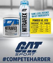 gat sport nitraflex same level potency on key ings