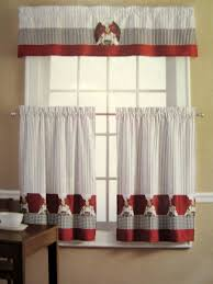 Red Curtains For Kitchen Red Checkered Kitchen Curtains Cliff Kitchen