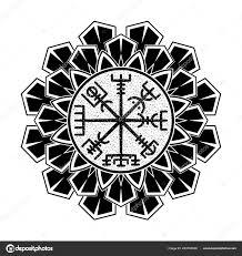 Posvátná Geometrie černá Skandinávské Tetování Magické Runové
