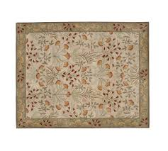 pottery barn new persian adeline multi mist hand tufted 8x10 wool carpet rug