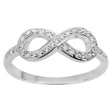 infinity ring. tressa collection cubic zirconia infinity ring in sterling silver