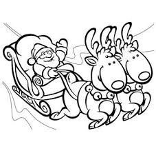 Santa And His Sleigh Coloring Pages Color Bros