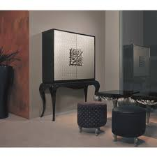 Living Room Bar Cabinet Black Gloss And Silver Bar Cabinet Silver Carved Handles