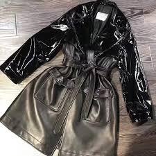 ping 2018 new design fashion women leather jacket runway outwear high quality sheepskin coats 7t 2t