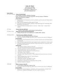 Corporate Executive Chef Sample Resume Best John Resume 44 44
