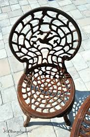 best paint for outdoor metal furniture rusty outdoor chair before makeover spray paint outdoor metal furniture