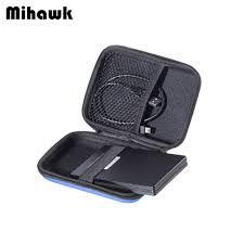 Mihawk Hard Drive Bags Portable HDD 2.5 Protection Disk Case Power Bank USB Cable Charger External Container Pouch Supplies