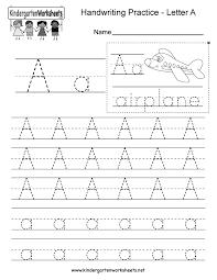 Kindergarten Writing Pages Writing Practice Worksheet Rome Fontanacountryinn Com