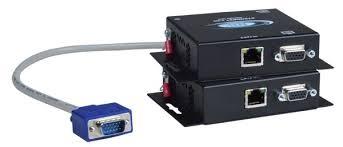 cat5 vga video audio extender 300 feet extend remote monitor rj45 st c5v 300 vga extender via cat5 local monitor up to