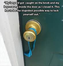 lock yourself out