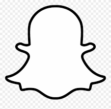 snapchat white icon png clipart