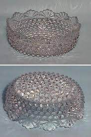 thousand eye fan pattern bowl this is a lovely bowl it is 6 across 2 deep and it has 6 molds this is an old piece and there is some wear