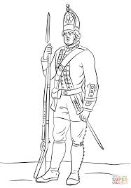 British Soldier Coloring Pages With Hessian Soldier Coloring Page