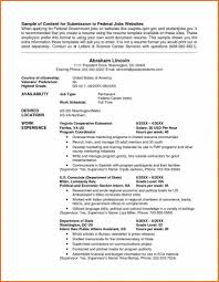 Resume Format For Government Job Government Job Resume Template
