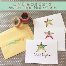 5. Washi Tape Star Card